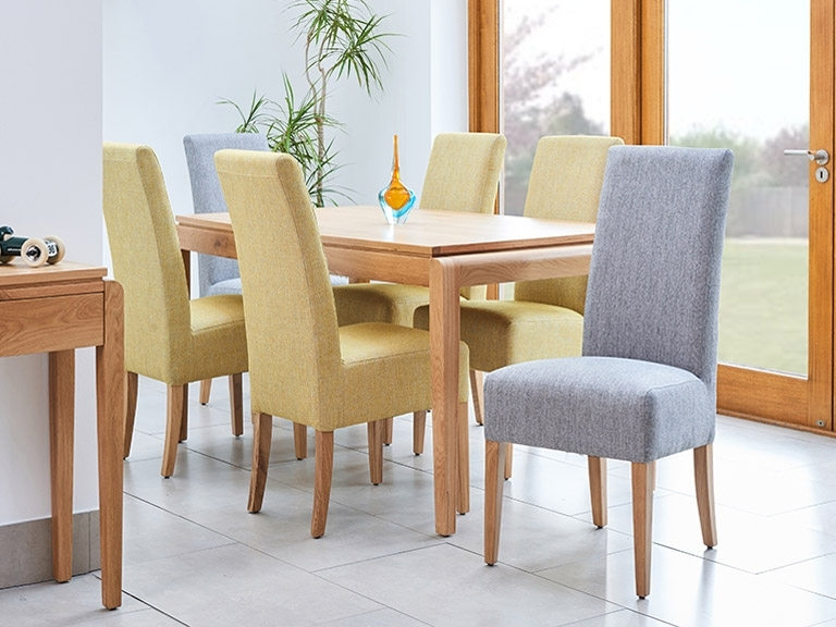 Fabric Covered Dining Chairs Intended For Famous How To Clean Fabric Dining Chairs (View 6 of 20)