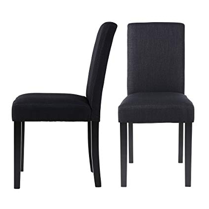 Fabric Dining Room Chairs Regarding Most Current Amazon – Lssbought Set Of 2 Classic Fabric Dining Chairs Dining (View 5 of 20)