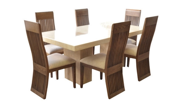 Fabulous Marble 1.8M Dining Table And 6 Chairs (View 4 of 20)