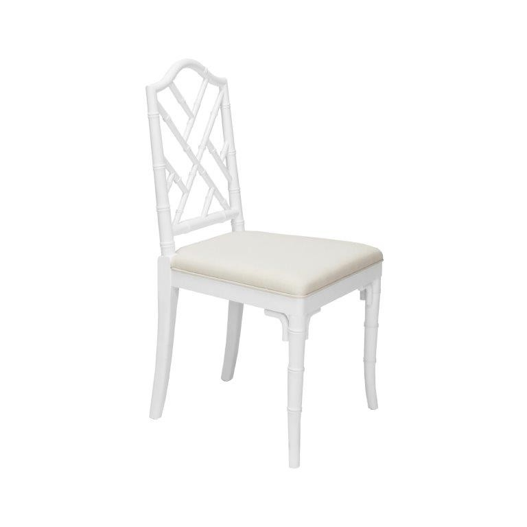 Fairfield Chippendale Bamboo White Dining Chair (View 7 of 20)