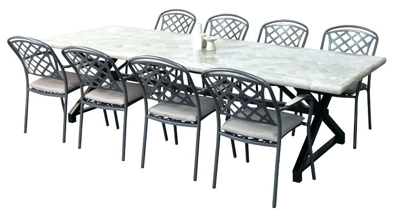 Famous 8 Seat Outdoor Dining Table 8 Seat Patio Dining Set 8 Seat Patio In 8 Seat Outdoor Dining Tables (View 14 of 20)