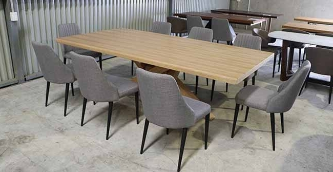 Famous 8 Seater Dining Table Finley Table + 8 Barham Chairs – Freeway Furniture Inside Cheap 8 Seater Dining Tables (View 11 of 20)