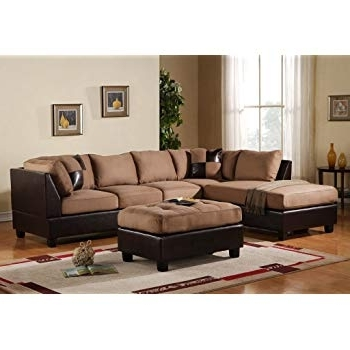 Famous Amazon: 3 Piece Modern Reversible Microfiber / Faux Leather Inside Blaine 3 Piece Sectionals (View 5 of 15)