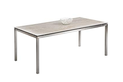 Famous Amazon – Milan Dt Clover Ceramic Glass Dining Table With Sleek With Sleek Dining Tables (View 15 of 20)