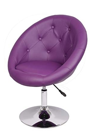 Famous Armchair Purple Club Chair Lounge Chair Faux Leather Dining Chair Inside Purple Faux Leather Dining Chairs (View 5 of 20)