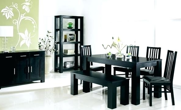 Famous Black Dining Room Furniture Black Dining Table And Chairs Sets Black In Black Wood Dining Tables Sets (View 2 of 20)