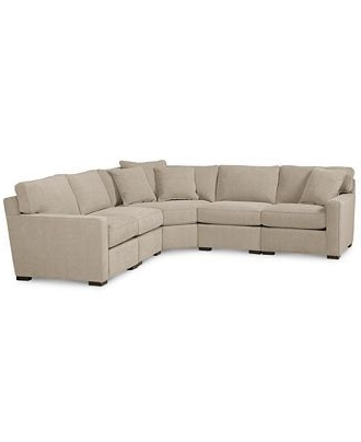 Famous Blaine 4 Piece Sectionals For Classic White & Gray Herringbone 2 Piece Sectional Sofa – (View 8 of 15)