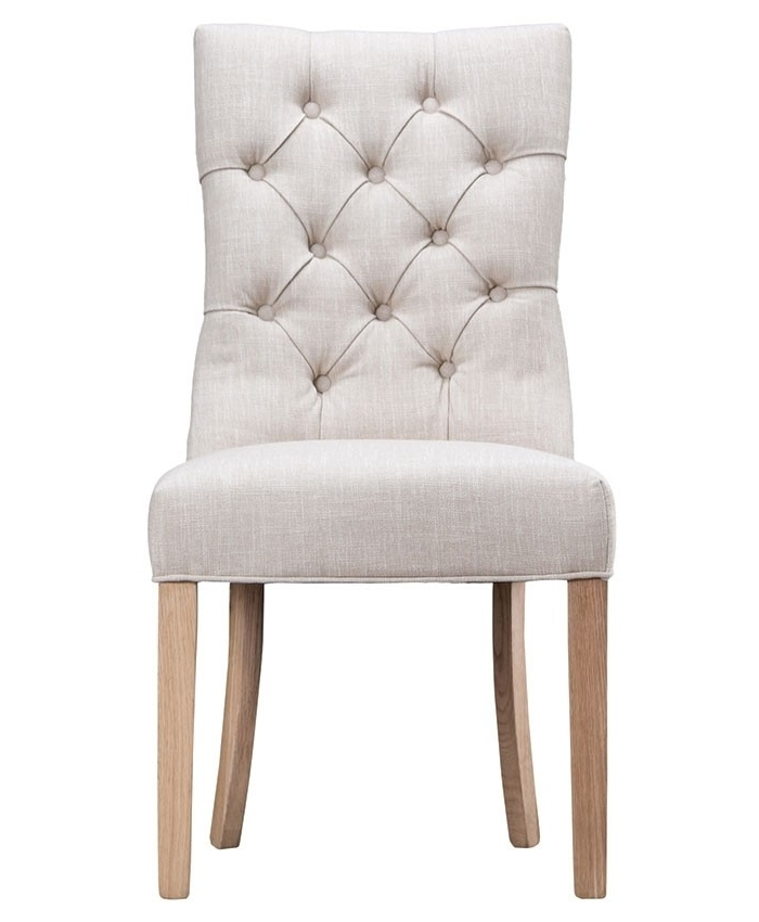 Famous Button Back Dining Chairs Regarding Curved Button Back Dining Chair – Brand Interiors (View 4 of 20)