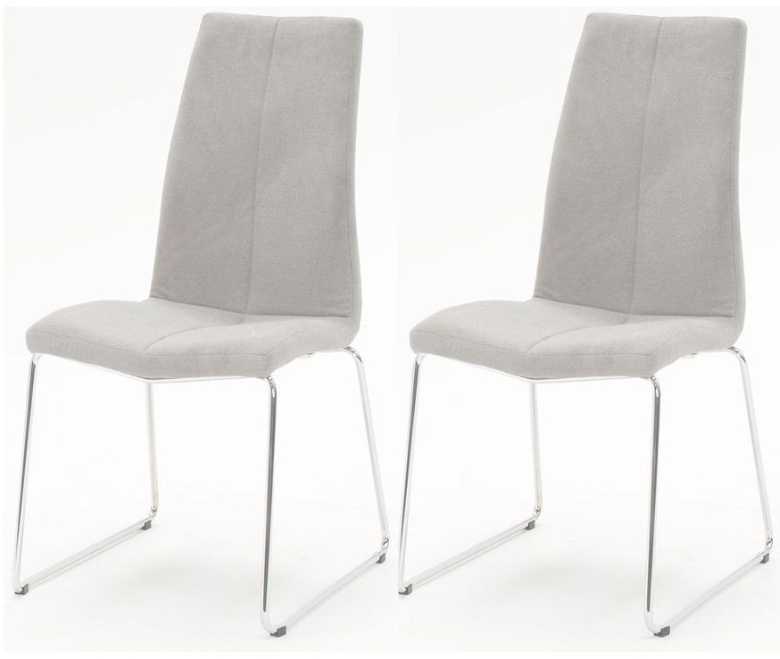 Famous Buy Vida Living Evoque Grey Fabric Dining Chair (pair) Online – Cfs Uk Pertaining To Grey Dining Chairs (View 17 of 20)