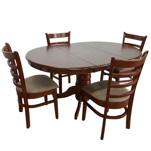 Famous By Designs Bennett 4 Seater Extendable Dining Table Set & Reviews Within Extendable Dining Tables And 4 Chairs (View 7 of 20)
