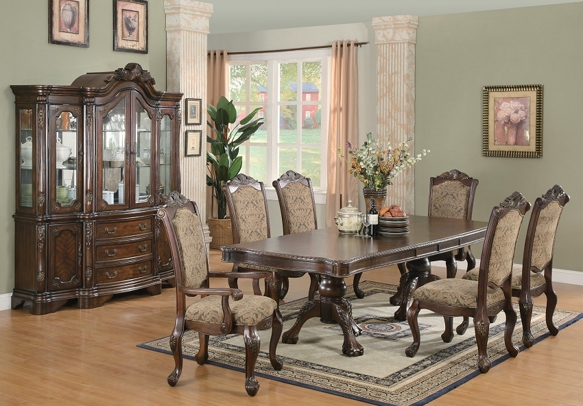 Famous Cheap Dining Tables Sets For Andrea Collection 103111 Formal Dining Table Set, Coaster Furniture (View 9 of 20)