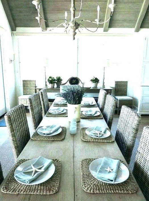 Famous Coastal Dining Tables Regarding Beach Dining Table Beach Dining Room Sets Coastal Dining Table Beach (View 16 of 20)