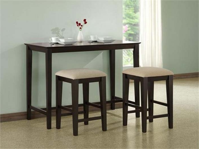 Famous Compact Dining Table And Chair Sets – Castrophotos Within Compact Dining Sets (View 8 of 20)