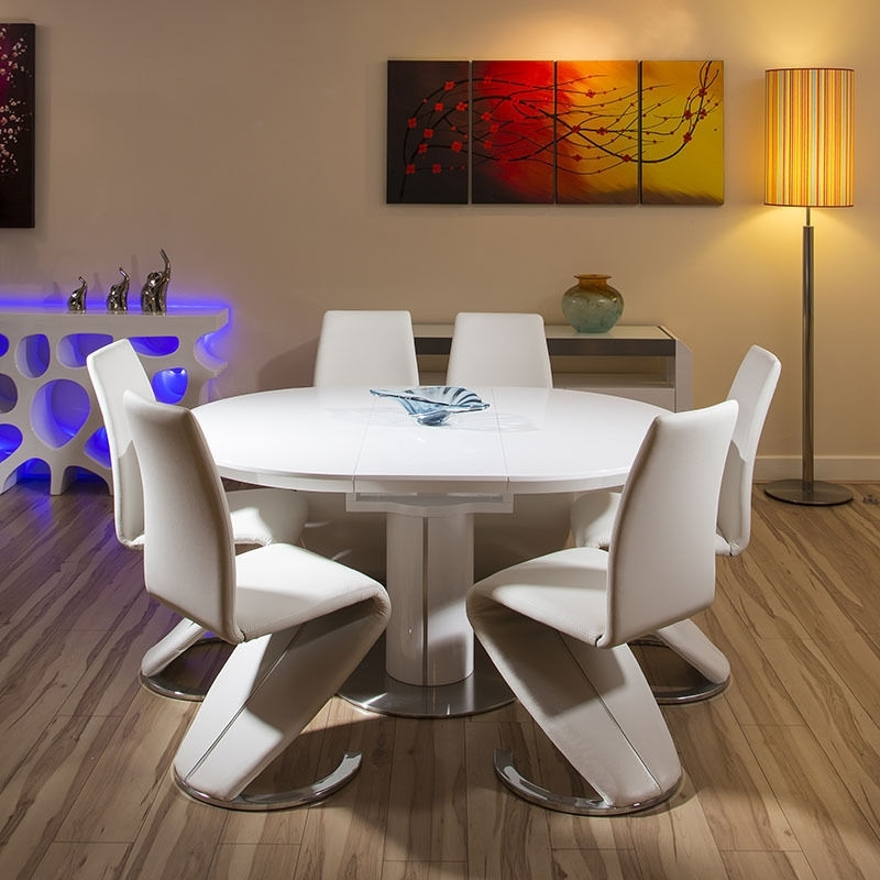 Famous Cream Gloss Dining Tables And Chairs Intended For High Gloss Dining Tables Cream Home Theme To Her With Modern Dining (View 12 of 20)