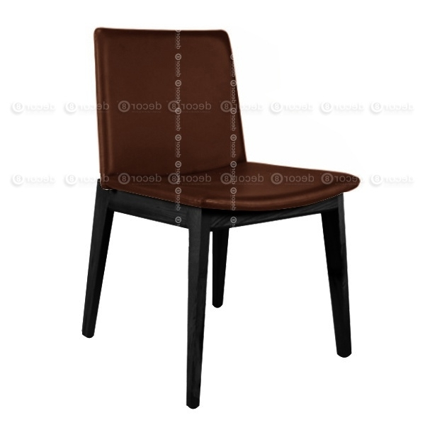 Famous Dark Brown Leather Dining Chairs Regarding Designer Chair Hong Kong, Dining Furniture – Raymond Upholstered (View 12 of 20)