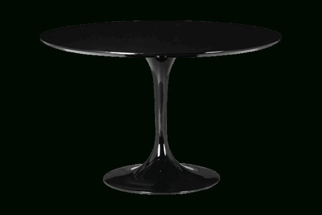 Famous Dark Round Dining Tables Regarding Wilco Black Round Dining Table For Rent (View 8 of 20)