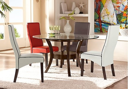Famous Delacourt Merlot 5 Pc Dining Set With White Chairs (View 7 of 20)