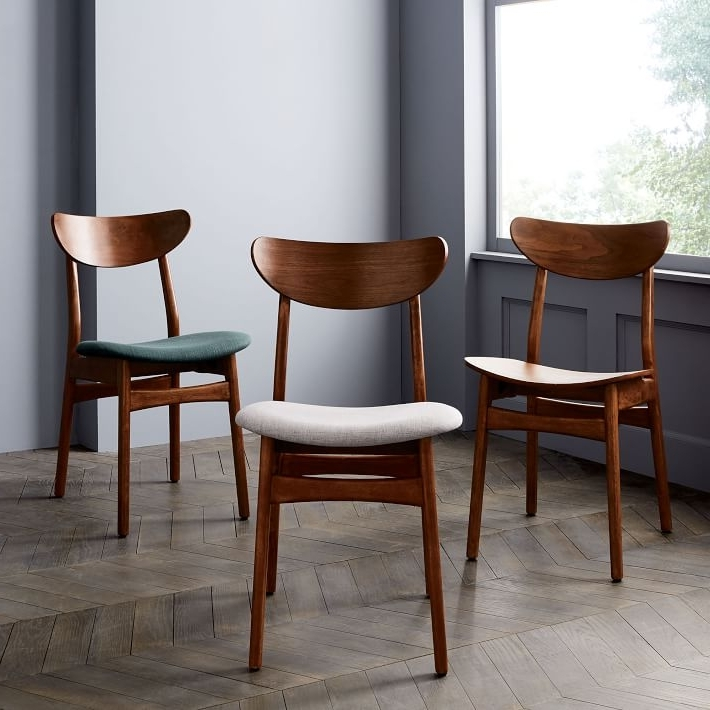 Famous Dining Chairs With Classic Café Upholstered Dining Chair (View 11 of 20)