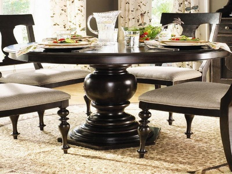 Famous Dining Table Circular Dining Tables Wood Circu 28491 Regarding Black Circular Dining Tables (View 13 of 20)