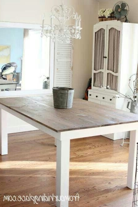 Famous Dining Tables With White Legs Regarding Kitchen Table Wood Top With White Legs (View 2 of 20)