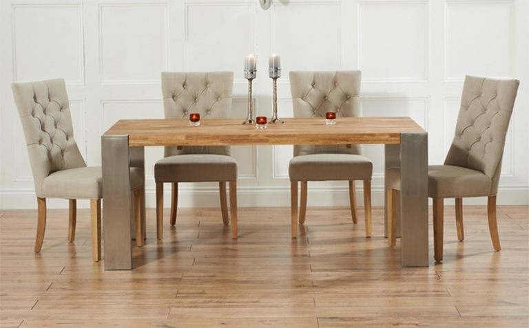 Famous Extendable Dining Tables Sets Within Oak Dining Table Sets (View 12 of 20)