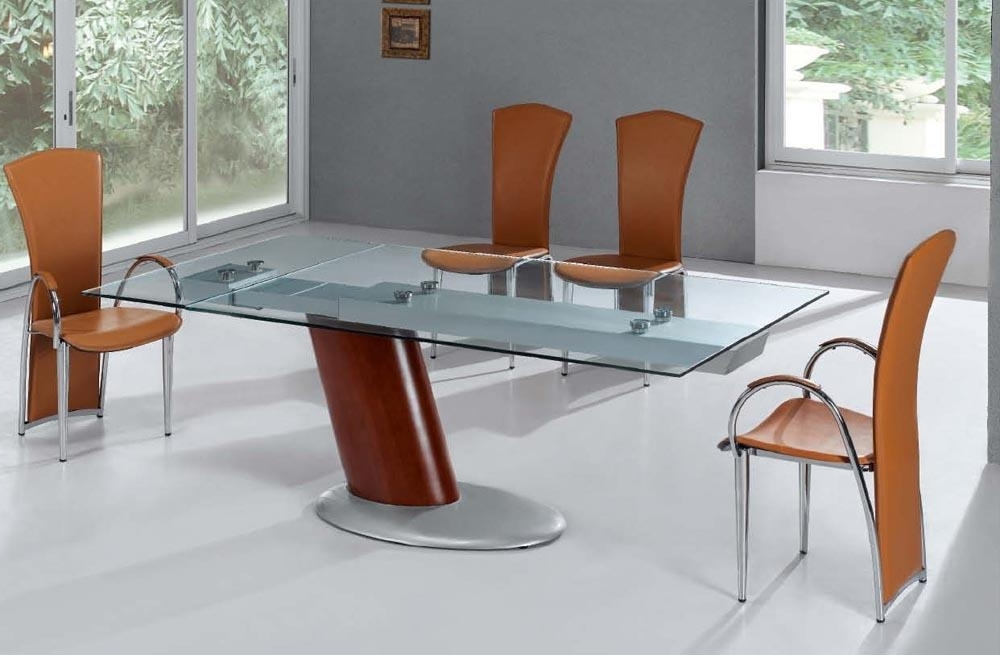 Famous Extendable Glass Dining Tables Throughout Create A Unique Look With Glass Top Dining Table (View 9 of 20)
