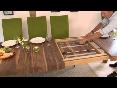 Famous Extending Rectangular Dining Tables For Table Mechanisms Pedestal Rectangular Extending Dining Tables  (View 12 of 20)