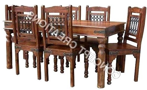 Famous Extraordinary Indian Wood Dining Table Indian Wooden Dining Table In Indian Wood Dining Tables (View 5 of 20)