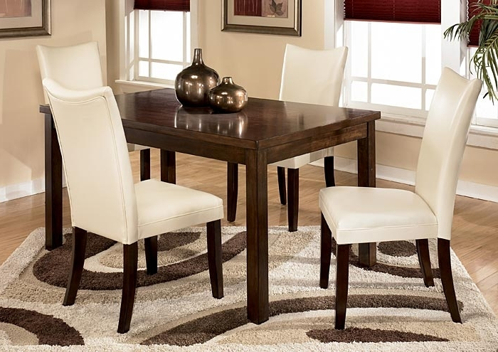 Famous Five Star Furniture Charrell Ivory Side Chairs (Set Of 2) Throughout Craftsman 5 Piece Round Dining Sets With Uph Side Chairs (View 3 of 20)