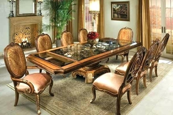 Famous Glass Dining Table With Wood Base – Modern Computer Desk Inside Wooden Glass Dining Tables (View 6 of 20)