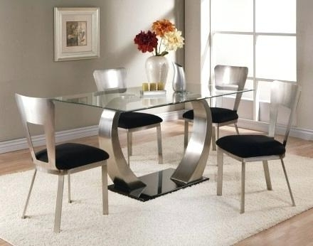 Famous Glass Top Rectangular Dining Table – Bienmaigrir Pertaining To Rectangular Dining Tables Sets (View 8 of 20)