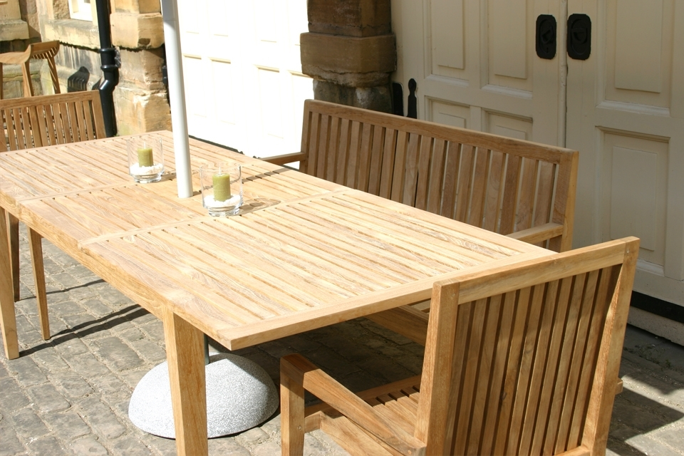 Famous Hampstead Extending Garden Dining Table – Bau Outdoors With Regard To Extending Outdoor Dining Tables (View 8 of 20)
