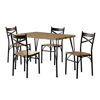 Famous Harper 5 Piece Counter Sets Within Amazon – Homes: Inside + Out Idf 3279T 43 5Pk Marva Table Set (View 17 of 20)