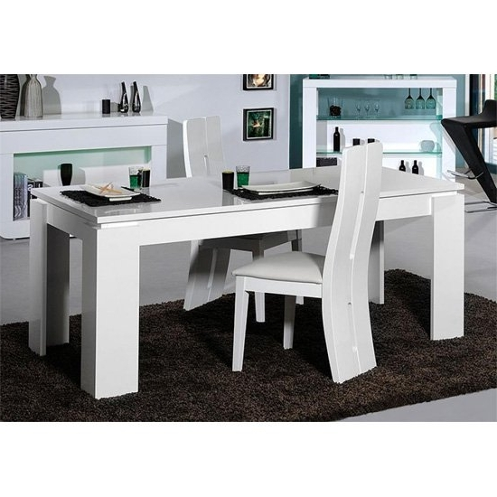Famous High Gloss Dining Tables Sets Intended For Fiesta Extendable Dining Table In High Gloss White  (View 2 of 20)