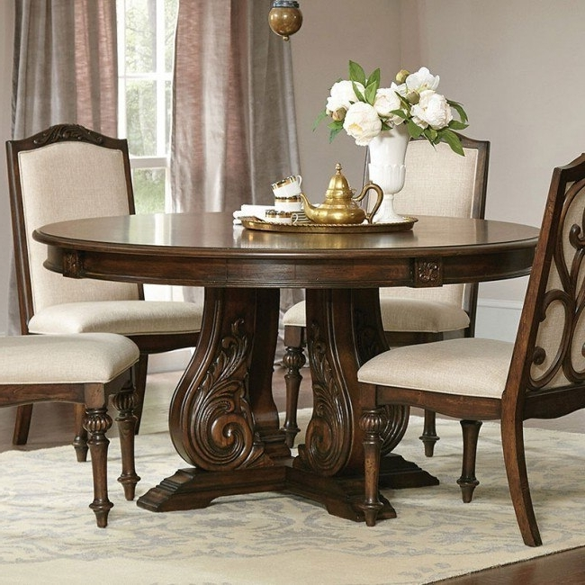 Famous Ilana Round Dining Table (Antique Java) – Dining Room And Kitchen With Java Dining Tables (View 8 of 20)