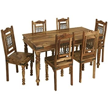 Famous Indian Dining Room Furniture With Regard To Jali Solid Sheesham Indian Rosewood  (View 4 of 20)