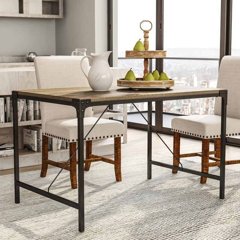 Featured Photo of Iron And Wood Dining Tables