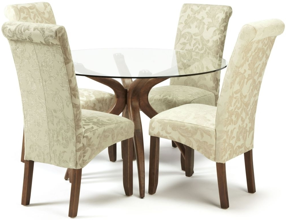 Famous Kingston Dining Tables And Chairs For Buy Serene Islington Walnut Round Dining Set With 2 Kingston Cream (View 5 of 20)