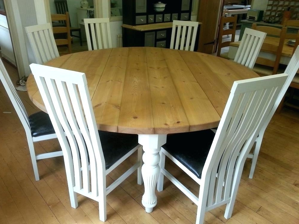 Famous Large White Round Dining Tables Within Large Round Dining Table Seats 6 – Futboldesafio (View 18 of 20)