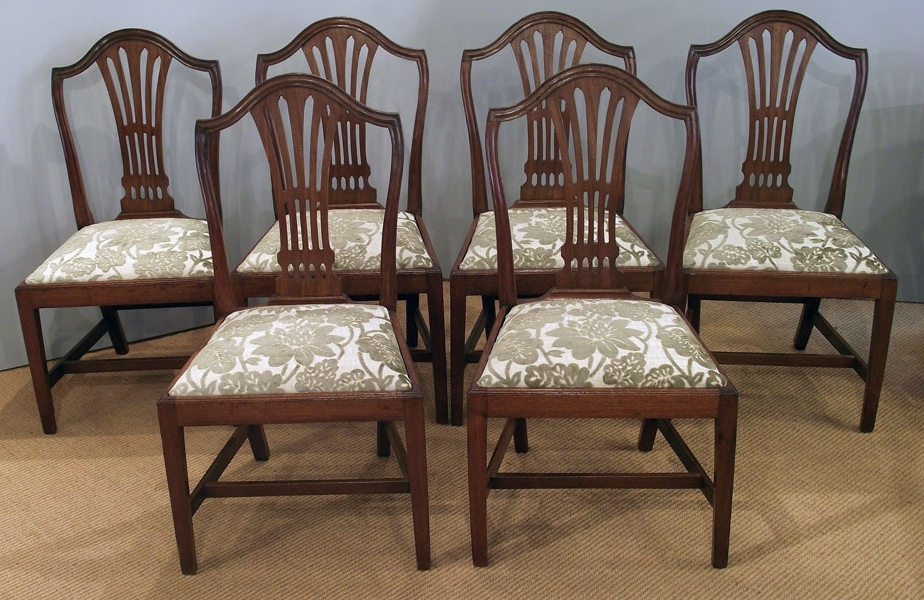 Famous Mahogany Dining Tables And 4 Chairs Within Set Of 6 Antique Mahogany Dining Chairs : Antique Dining Chairs (View 4 of 20)