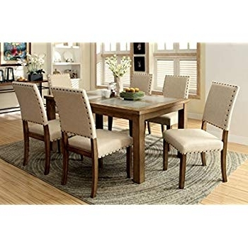 Famous Market 7 Piece Dining Sets With Host And Side Chairs With Regard To Amazon – Vegas 7 Piece Round To Oval Extension Dining Table Set (View 6 of 20)
