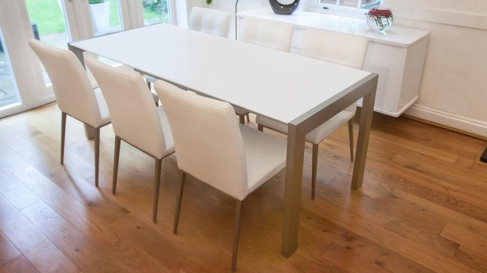 Famous Matt White Extending Dining Table (View 3 of 20)