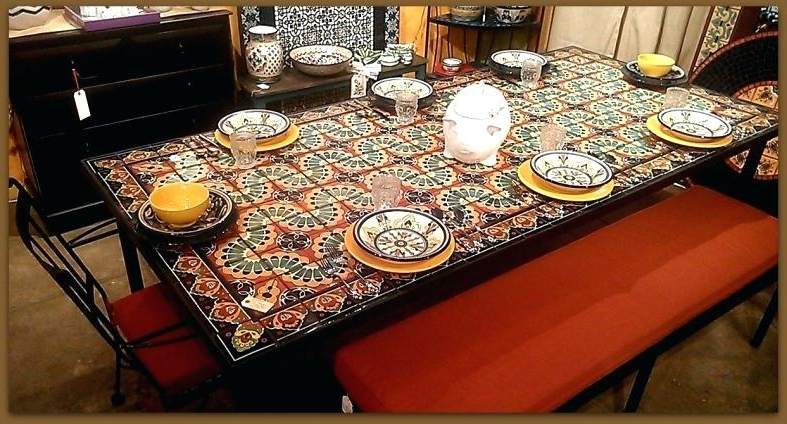 Famous Mosaic Dining Table – Travelward In Mosaic Dining Tables For Sale (View 7 of 20)