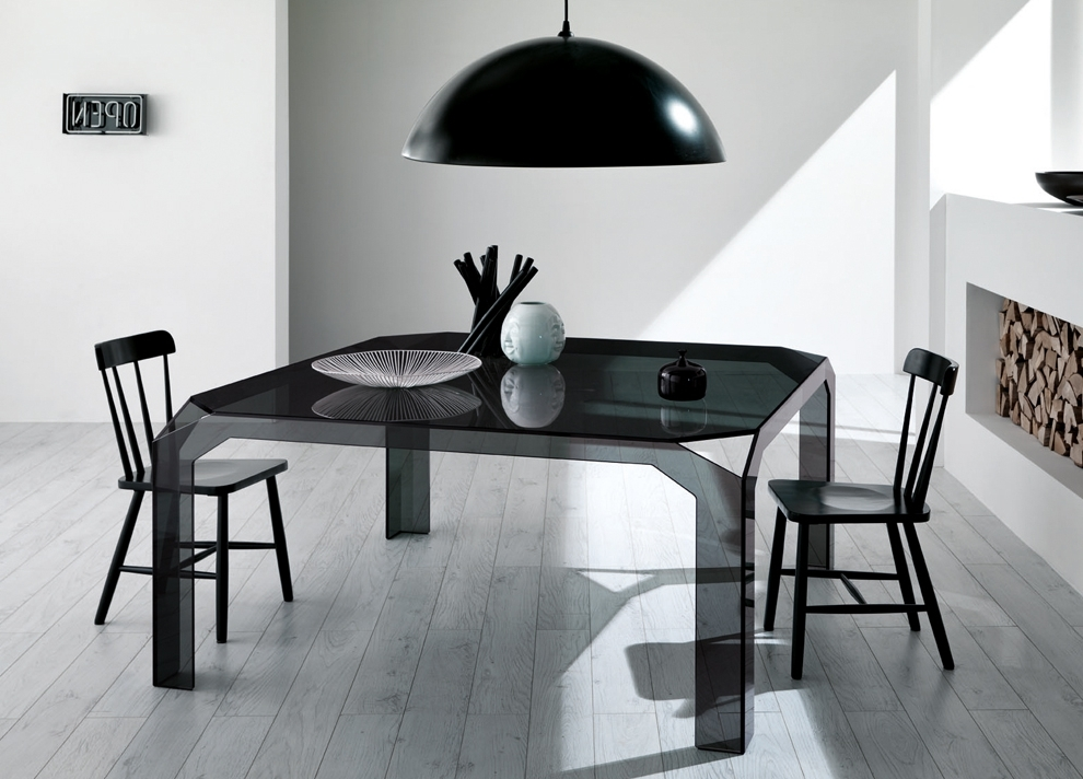 Famous Nervi Square Glass Dining Table (View 6 of 20)