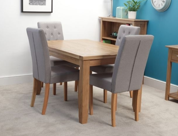 Famous Oak Dining Tables And 4 Chairs In Rustic 140Cm Oak Dining Table With 4 Chairs (View 8 of 20)