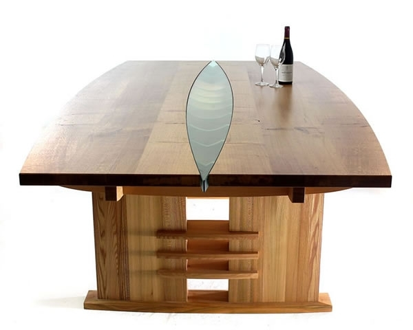 Famous Oak Glass Dining Tables Within  (View 6 of 20)