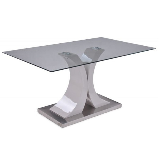 Famous Palazzo Modern Glass Dining Table Rectangular In Clear Pertaining To Palazzo Rectangle Dining Tables (View 7 of 20)