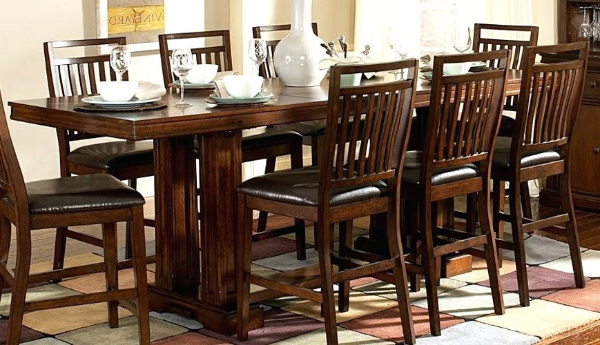 Famous Rectangular Dining Tables Sets Pertaining To Counter Height Rectangular Table Sets Narrow Counter Height Dining (View 9 of 20)