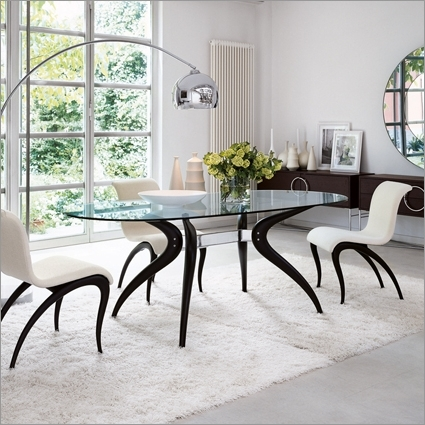 Famous Retro Glass Dining Tables And Chairs Pertaining To Porada Retro Glass Dining Table,m. Marconato & T (View 3 of 20)