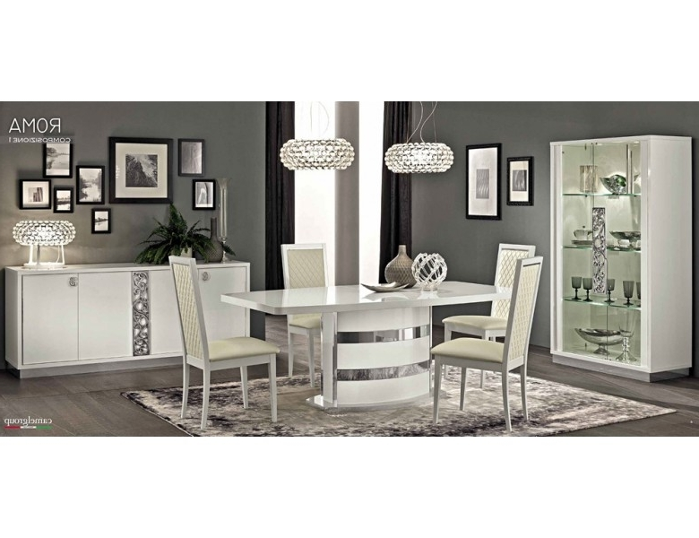 Famous Roma White Modern Italian Dining Table Pertaining To Roma Dining Tables (View 7 of 20)